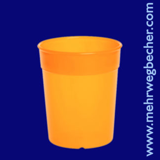 9025-4--reusable-cup-0,2l-pp-orange-plastic