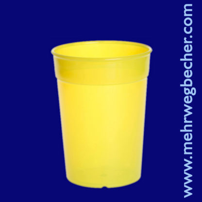 9027-1-reusable-cup-0,25l-pp-yellow-plastic