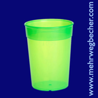 9027-3-reusable-cup-0,25l-pp-green-plastic