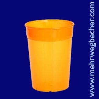 9027-4-reusable-cup-0,25l-pp-orange-plastic