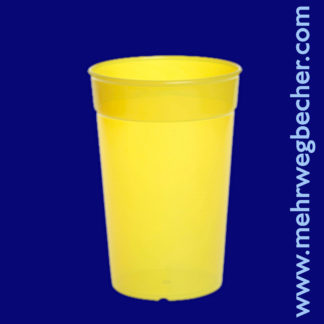 9029-1-reusable-cup-0,3l-pp-yellow-plastic