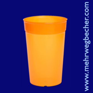 9029-4-reusable-cup-0,3l-pp-orange-plastic