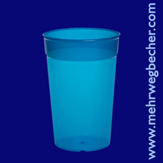 9029-5-reusable-cup-0,3l-pp-blue-plastic