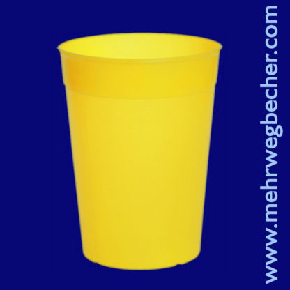 9031-1-reusable-cup-0,4l-pp-yellow-plastic