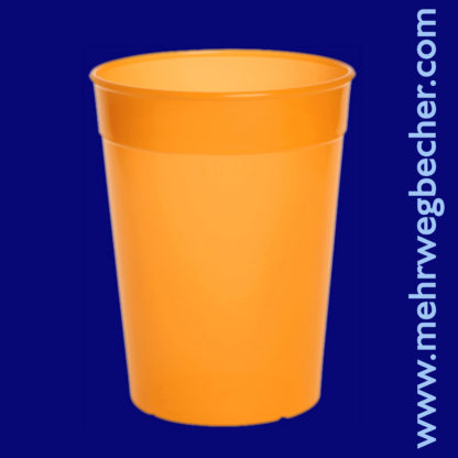 9031-4-reusable-cup-0,4l-pp-orange-plastic