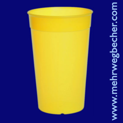 9033-1-reusable-cup-0,5l-pp-yellow-plastic