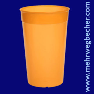 9033-4-reusable-cup-0,5l-pp-orange-plastic