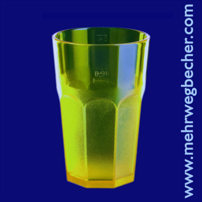 9044-2-caipirinha-glass-0,3l-san-partially-frosted-yellow-1